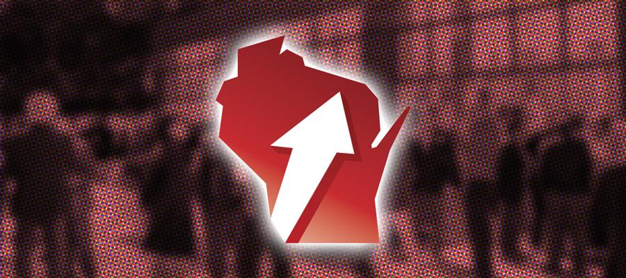 Administrative Transformation Program logo of Wisconsin with an arrow pointing upwards