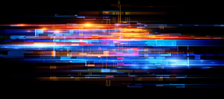 colorful abstract grid lines
