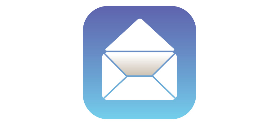iOS Mail icon as opened envelope