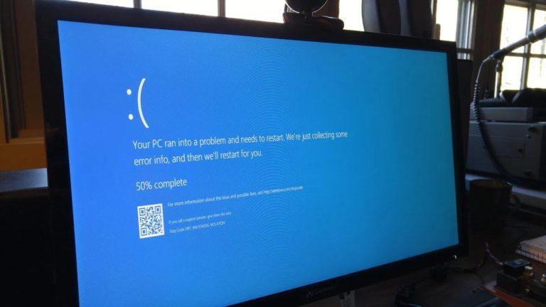 Windows blue screen error