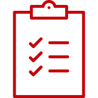 line art image of a clipboard with a checklist on it