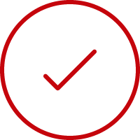 Line art image of a check mark in a circle