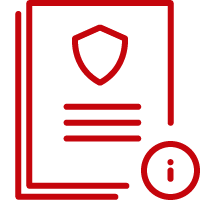 Line art image of a stack of paper security documents