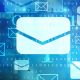 Photo - Lots of email icons floating in cyberspace.