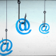 Phishing hooks with @ symbols.
