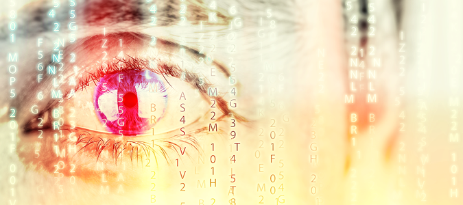 Eye watching through data encryption