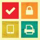 Student computing checklist icon set