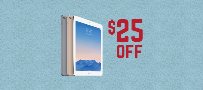 $25 Departmental iPads