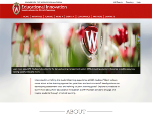 screenshot of Educational Innovation website