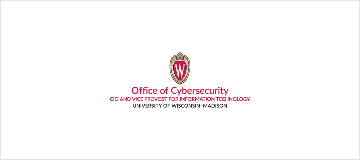 UW Crest, Office of Cybersecurity, CIO and Vice Provost for Information Technology, University of Wisconsin–Madison logo