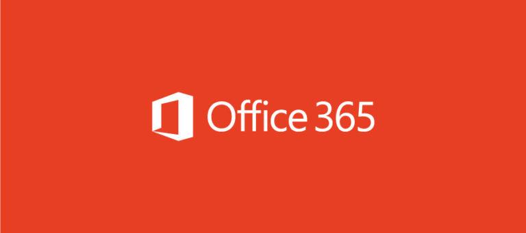 Office 365 logo on orange background