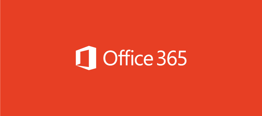 Office 365 logo on orange background