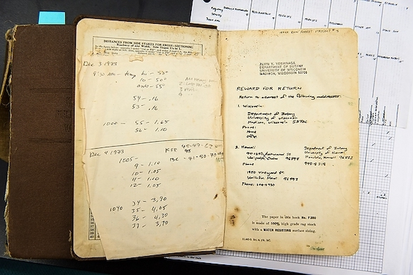 photo of a lab notebook