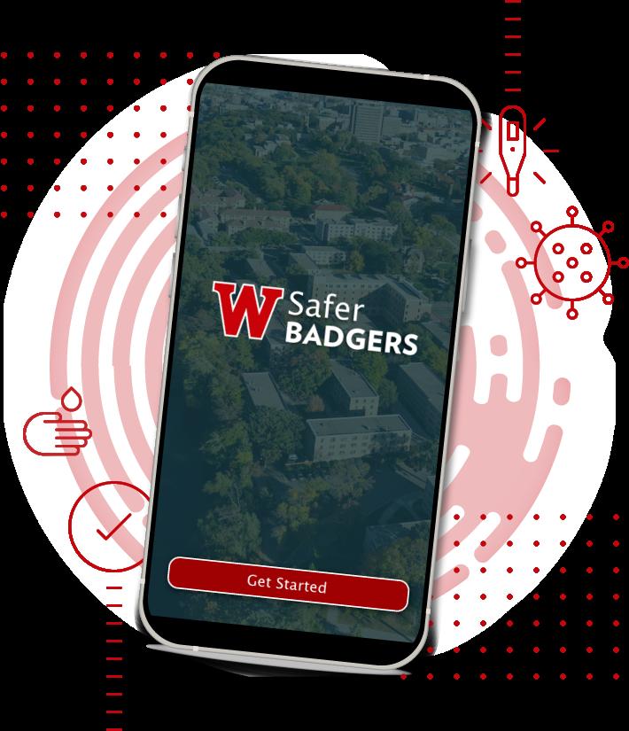 Safer Badger App on a smart phone