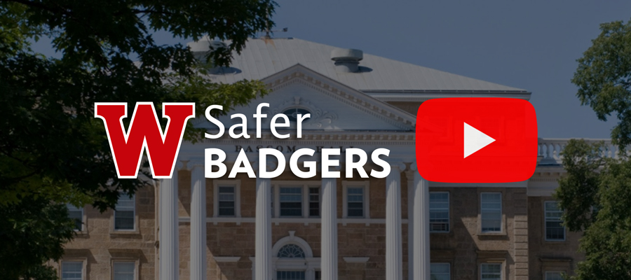 Safer Badgers app and YouTube logo