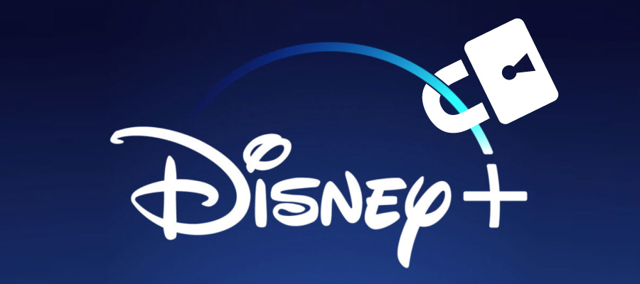 Disney Plus logo with pad lock
