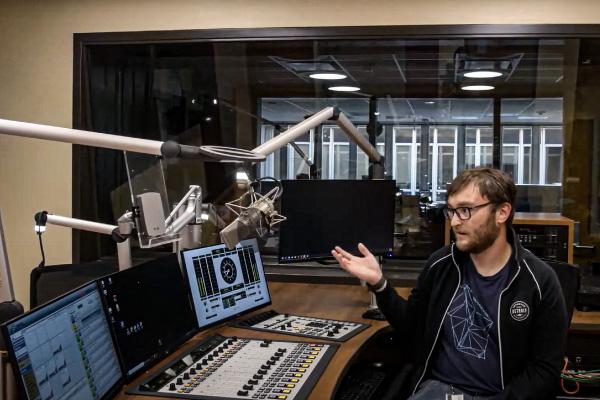 Revamped Wisconsin Public Radio studio