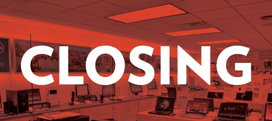 DoIT Tech Store Closing
