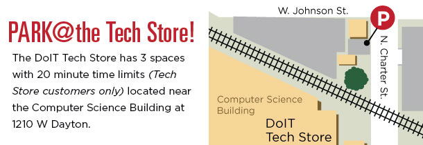 Tech Store Parking Banner – Departmental Side