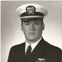 Bob Turner shown in his 1988 Navy portrait