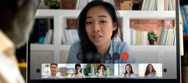 Webex virtual meeting in process
