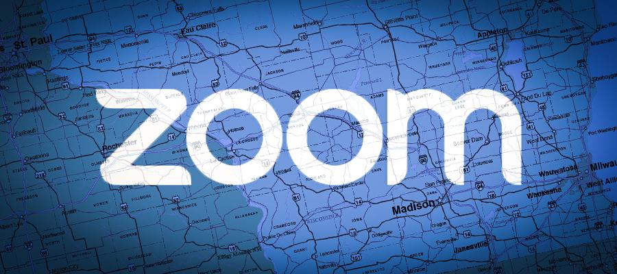 Zoom logo superimposed over roadmap
