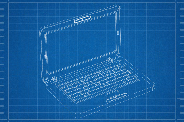 blueprint of a laptop