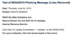 Example copy of a recent phishing message at U-M. Source: University of Michigan IT